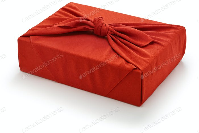 Japanese gift wrapping by Furoshiki.