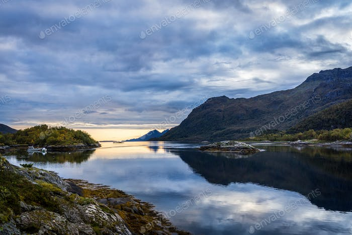 Landscapes With Sea and Mountains in Norway