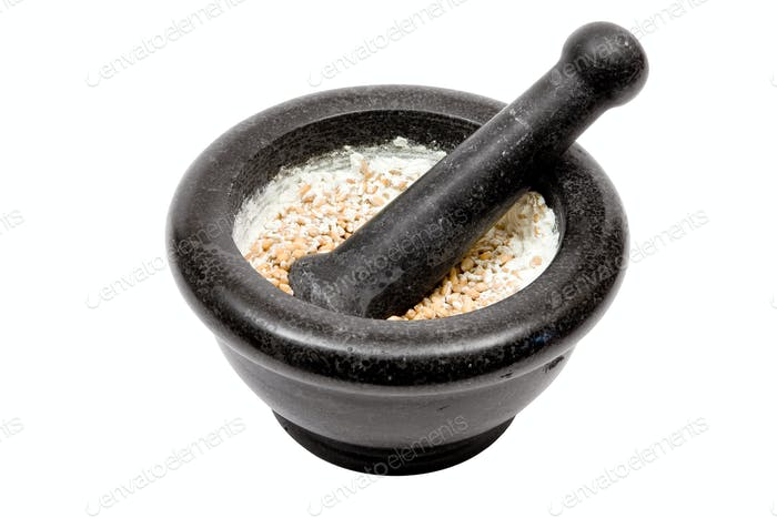 Grinding Isolated on a White Background