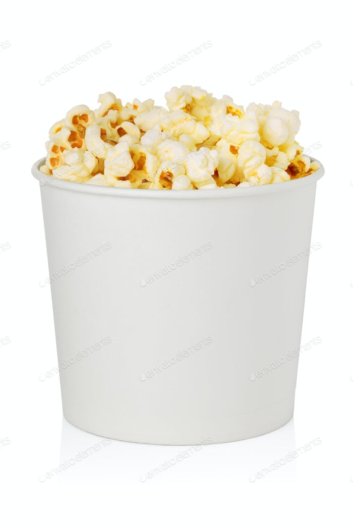 Popcorn bucket isolated