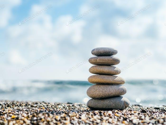 Steine Pyramide, Steine Balance. Harmony-Konzept