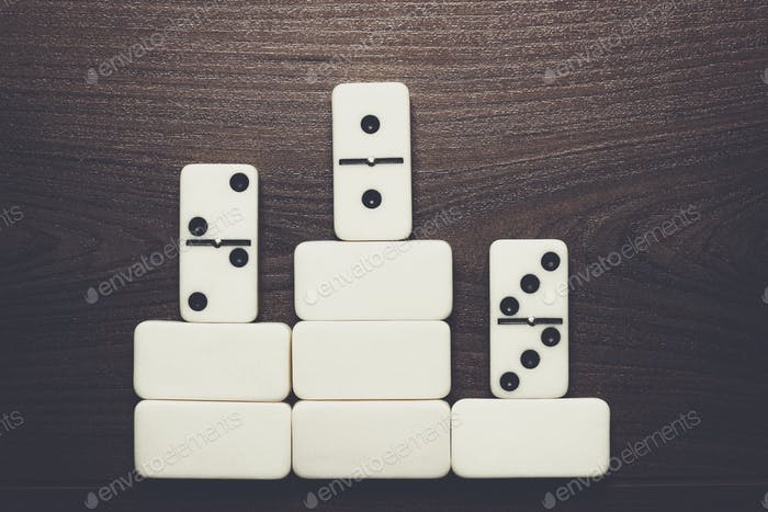 domino pieces win concept background