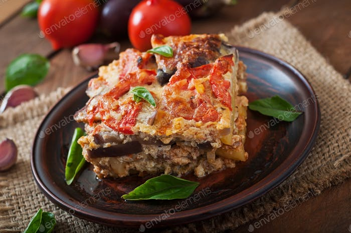 Moussaka - a traditional Greek dish
