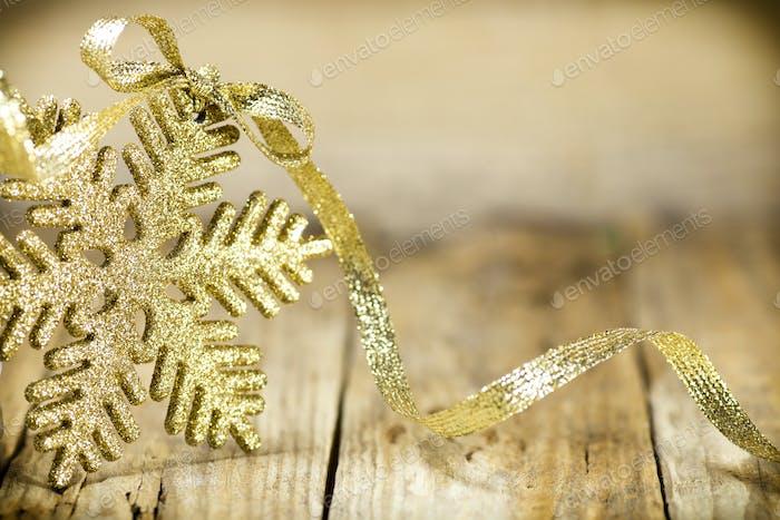 Christmas silver, gold decor.