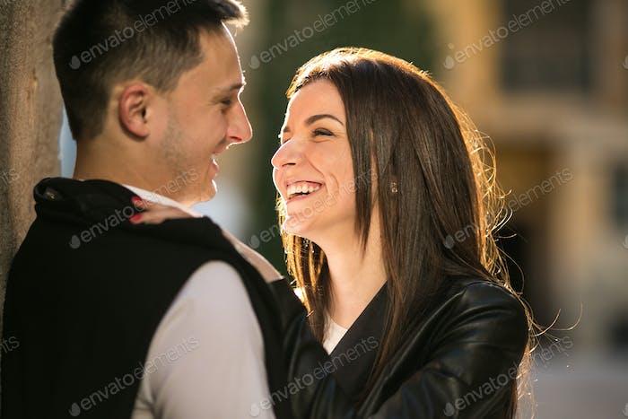 Paar Spaß in der Stadt