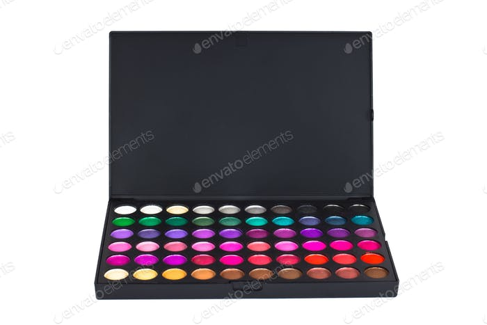 Make-up colorful eyeshadow palette