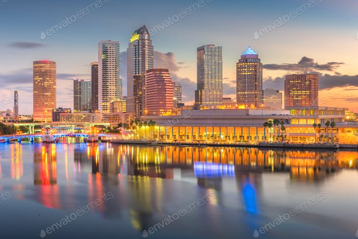 Tampa, Florida, USA downtown skyline on the bay