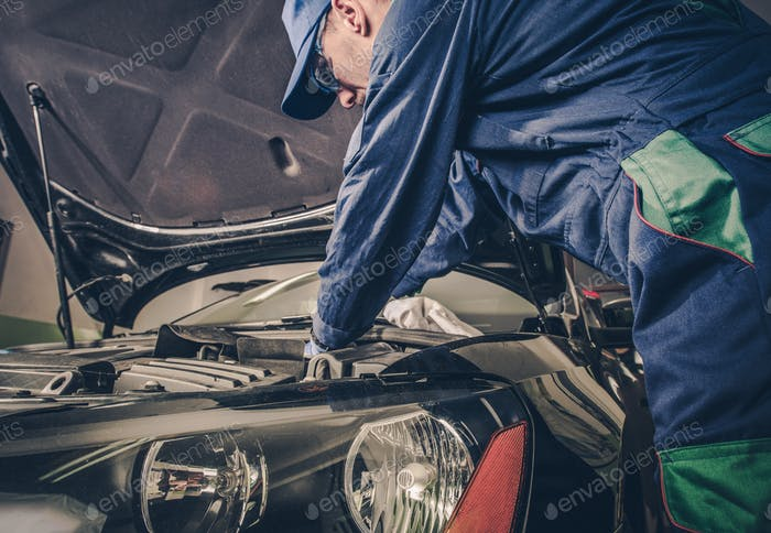 Geschäftskonzept für Auto-Service