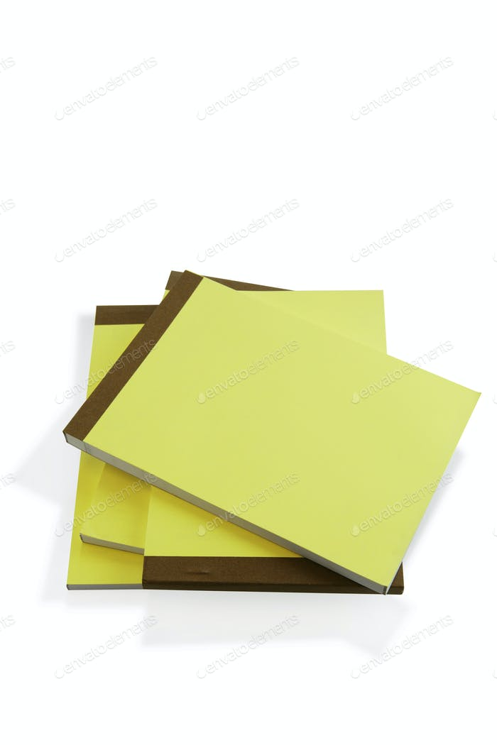 Pile of paper note pads