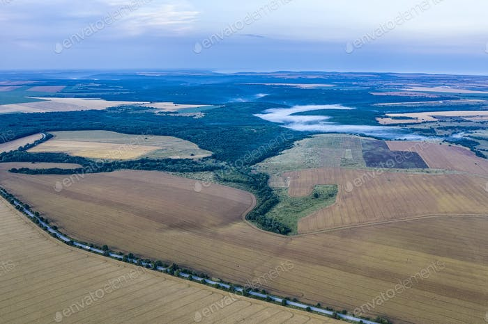 vast aerial view