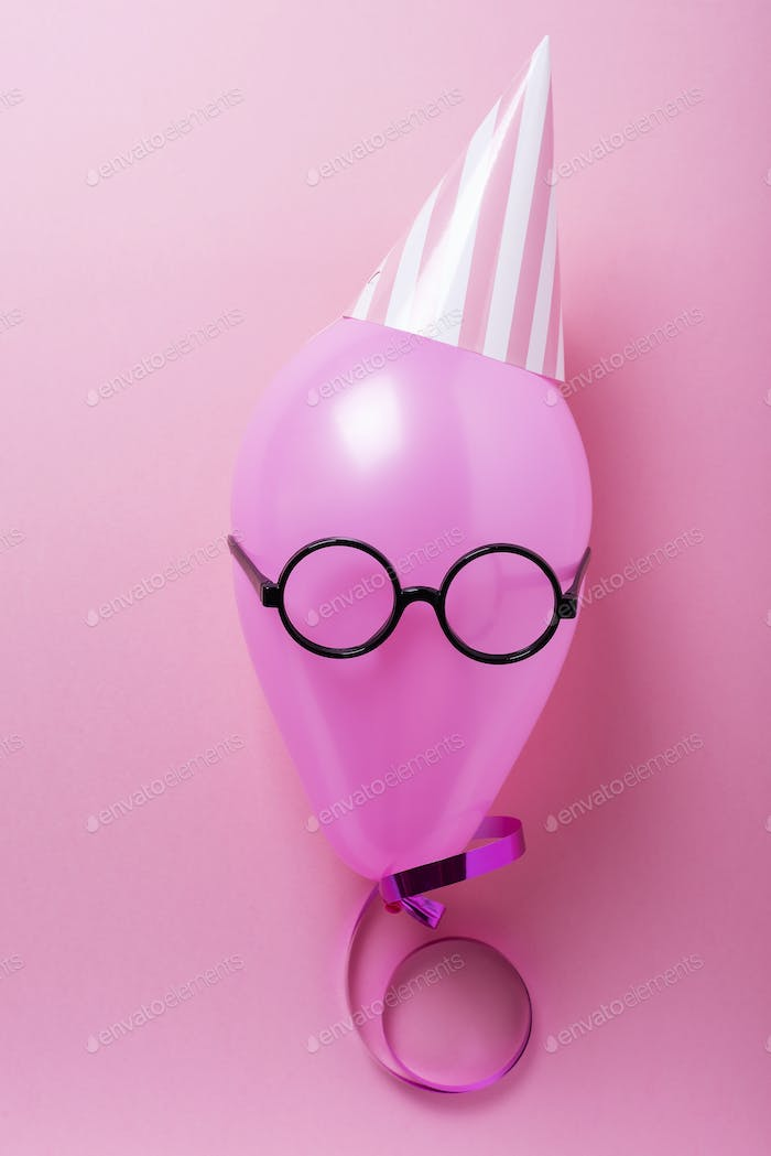 Party concept with pink ballon
