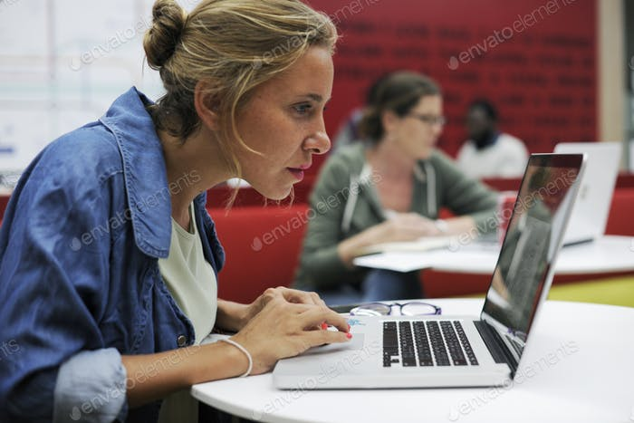 Startup Business People Working on Laptop
