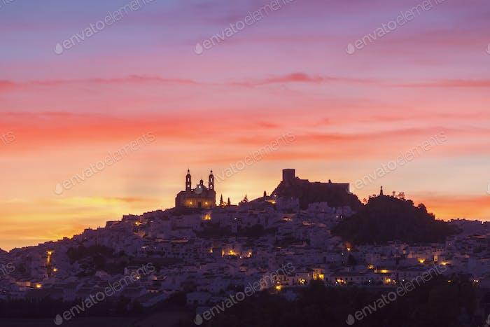 Olvera panorama at sunset