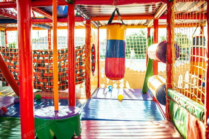 Playground with colorful mats