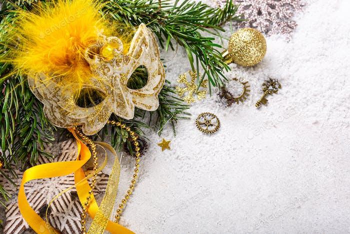 Festliche Weihnachtskomposition