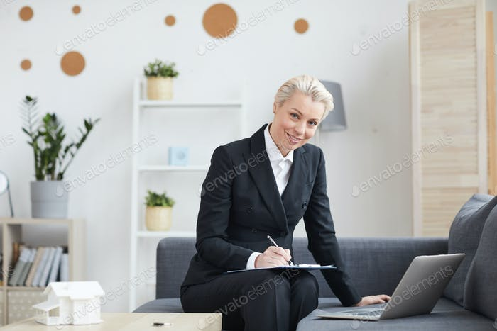 Mature businesswoman working with laptop