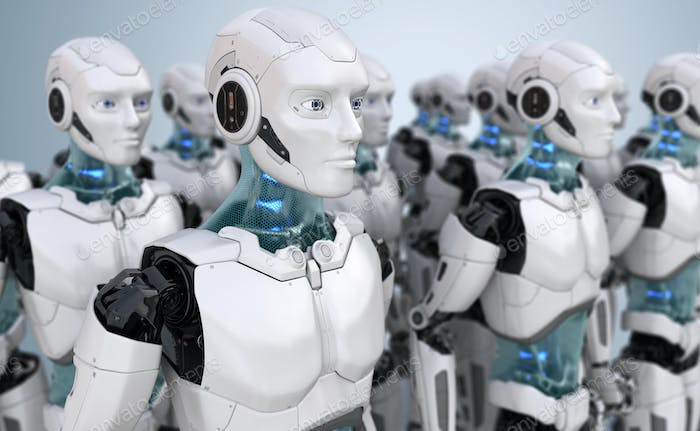 Crowd of robots