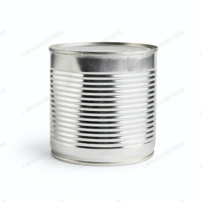 Blank tincan on white