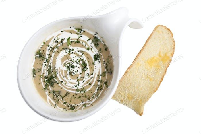 Mushroom cream-soup.