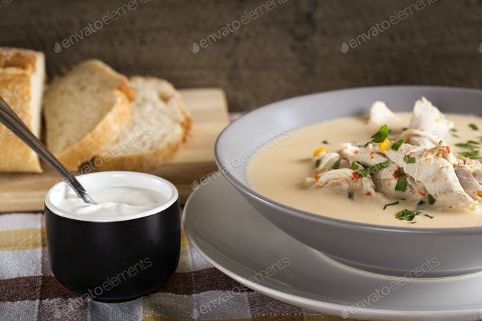 traditional Romanian chicken soup