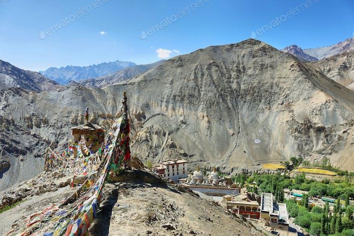 Lamayuru Buddhist Monastery nestled within the Indian Himalayan region of Ladakh, India