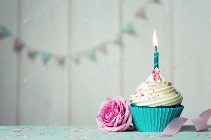 Thumbnail for Birthday cupcake