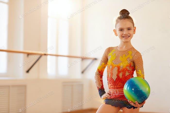 Girl Gymnast Posing