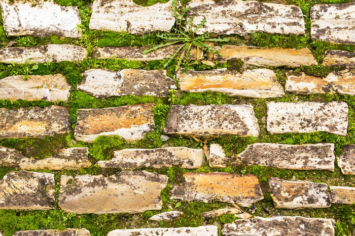Background wall made of stone.
