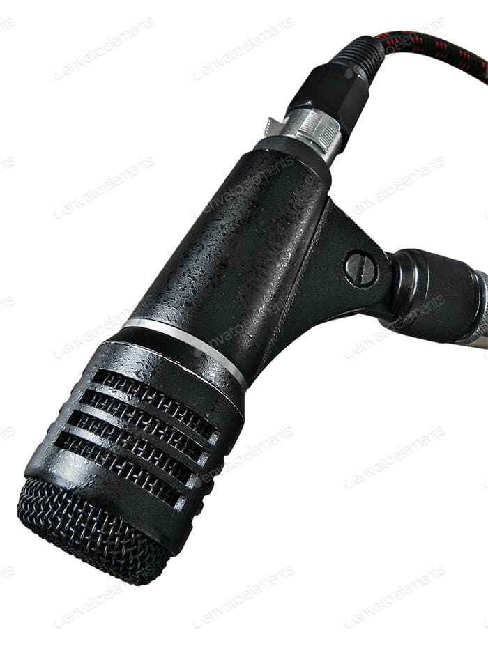 Microphone with Clipping Path Isolated on a White Background
