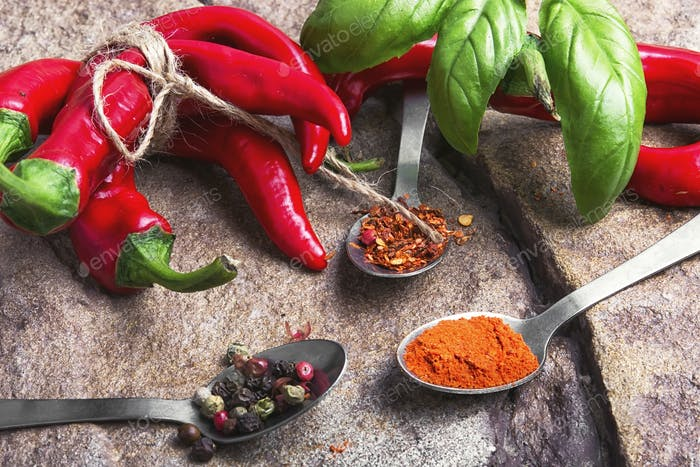 Hot Mexican spice red pepper
