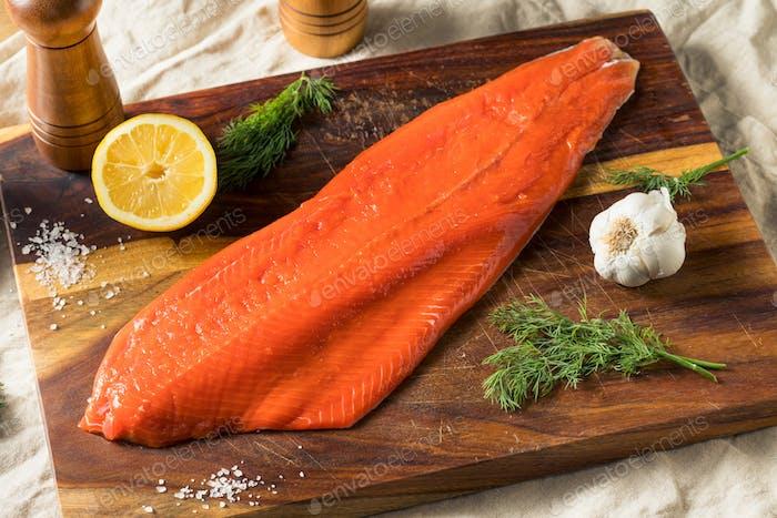 Raw Organic Wild Salmon Filet