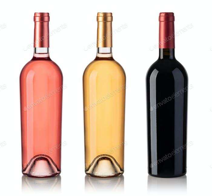 Set Weinflaschen