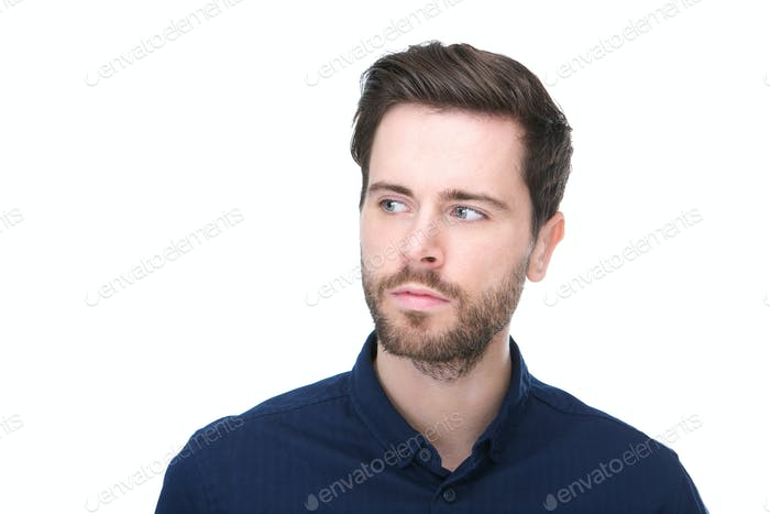 Casual man with blue shirt