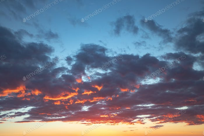 Sunset sky backgrounds. Great image for 3D rendering