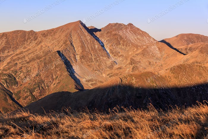 sunrise in Fagaras Mountains, Romania