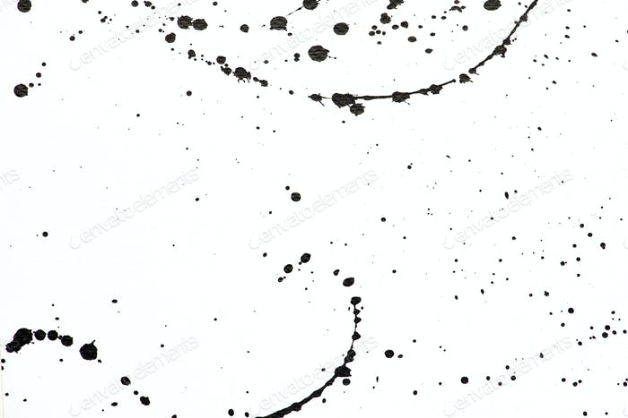 Monochrome watercolor drop banner background
