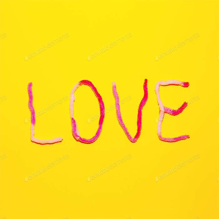 Text Love Candy Color Fashion minimal art