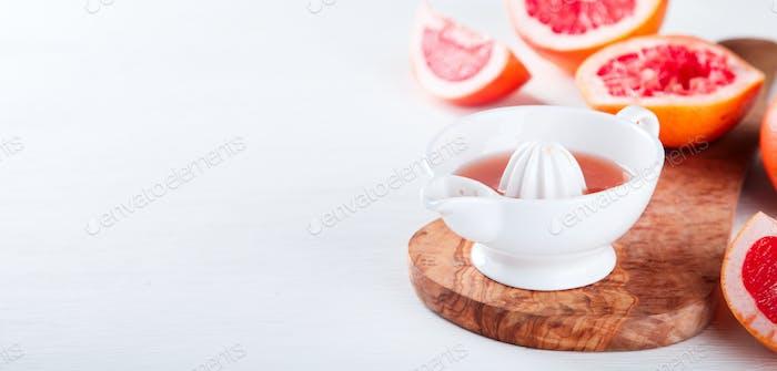 Juice Grapefruit. Vitamin drink for immunity against the virus.