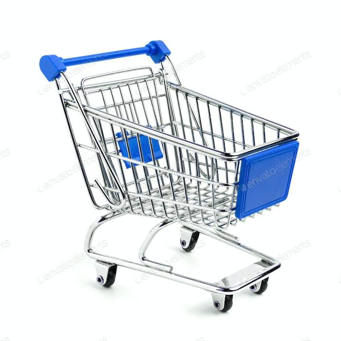 Blauer Warenkorb