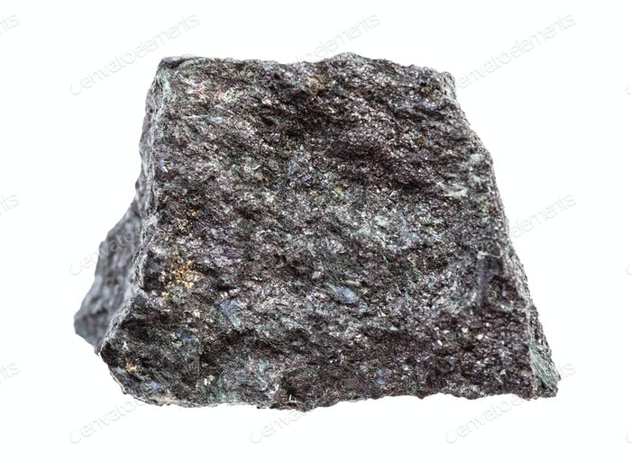 grobes Magnetit-Erz (Eisenerz) isoliert