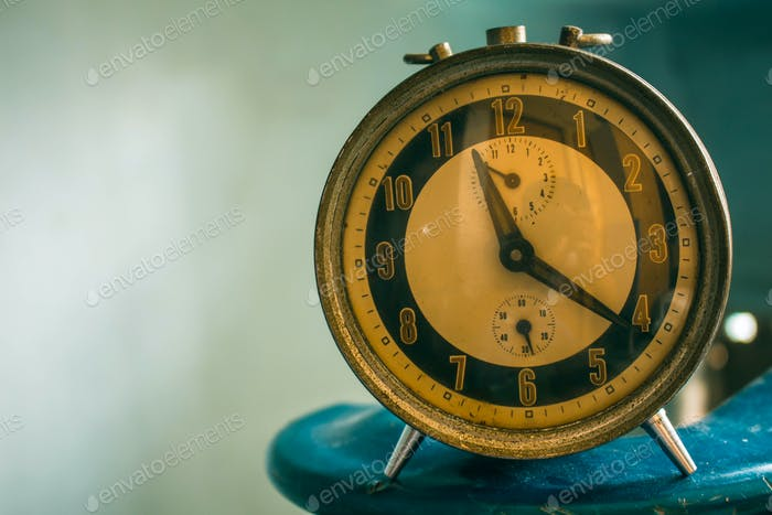 antique clock of vintage