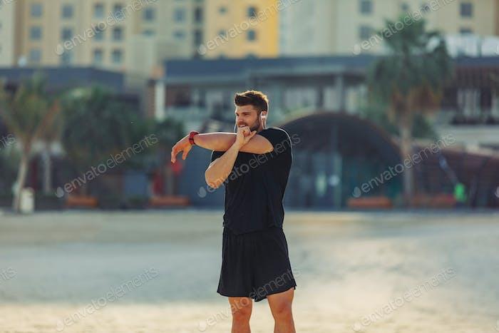 Растягивание мышц перед тренировкой