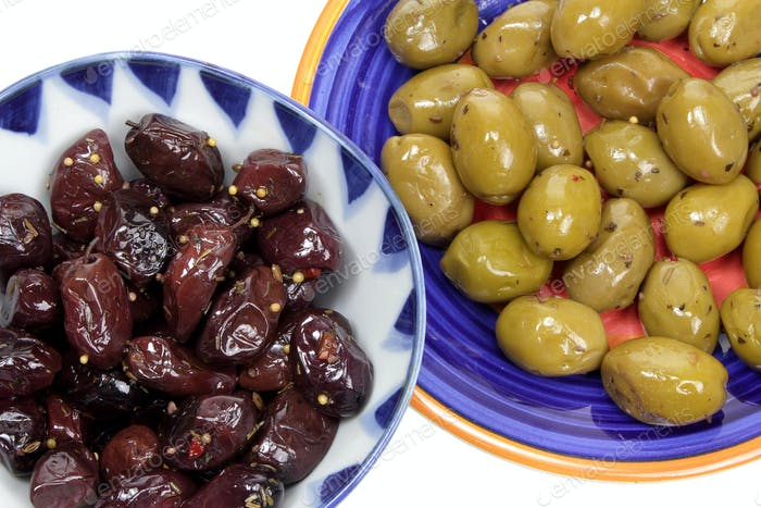 Olives on Plates