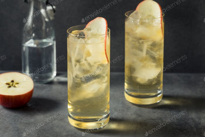 Boozy Refreshing Calvados and Tonic Apple Cocktail