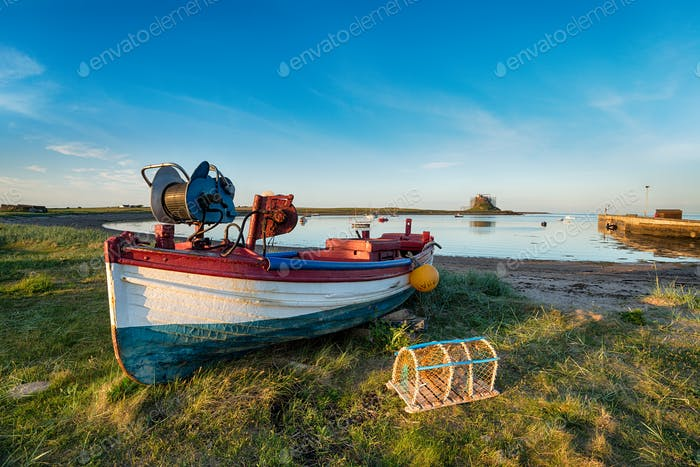 Boats at Lindisfarne