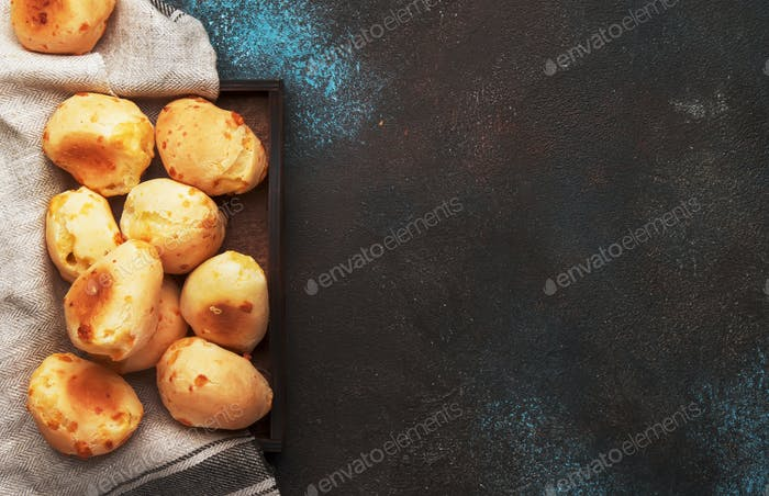 Appetizing homemade savory cheese buns