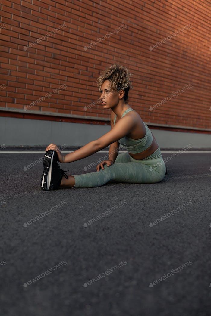 She never skips a workout