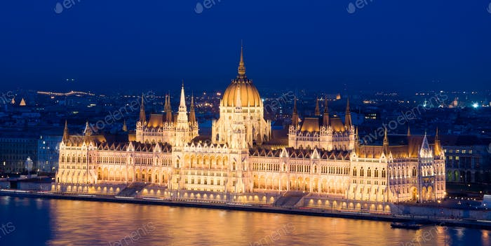 The Hungarian Parliament Building. Popular landmark of Budapest.