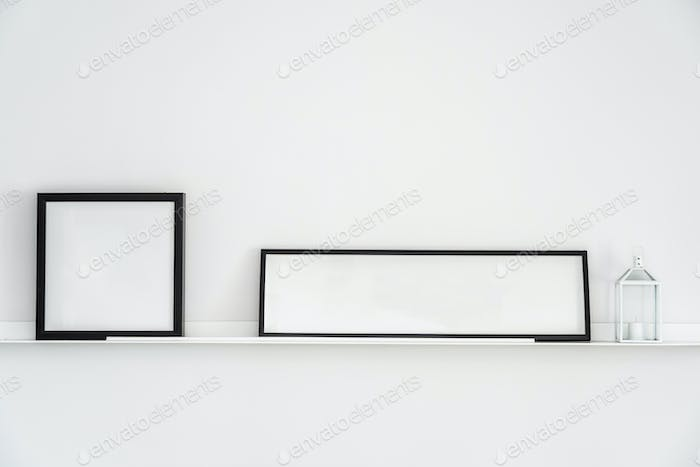 Empty frame with copy space decoration interior