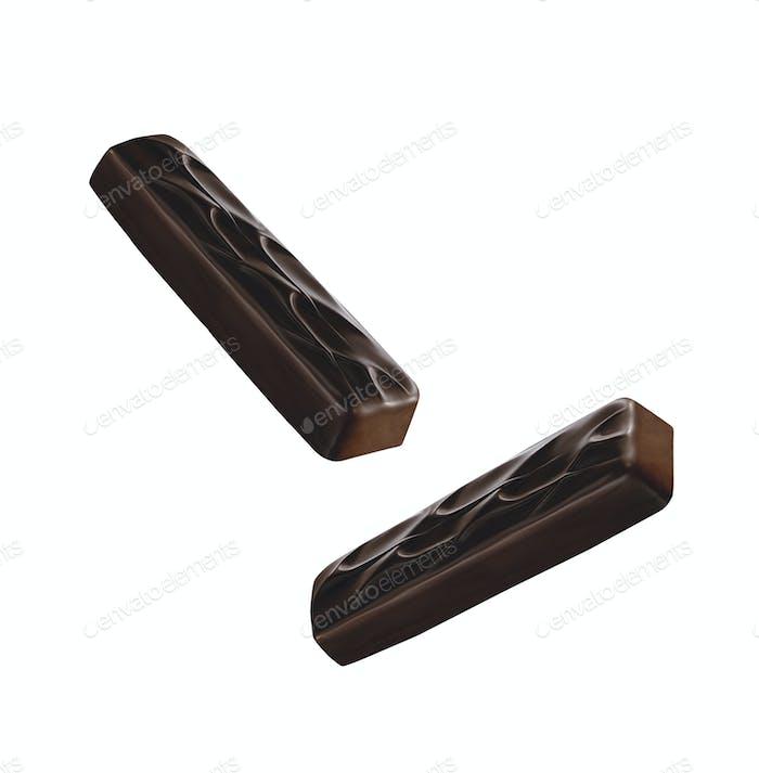 Schokolade überzogener Riegel